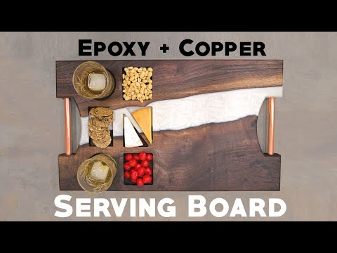 Trash Wood To Treasure - Epoxy \u0026 Copper Cutting Board | Serving Board