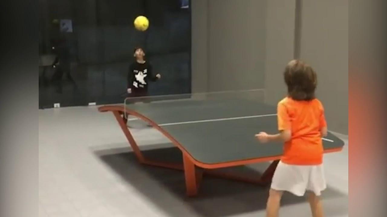 Teqball Albanian Kids Playing Teqball Youtube