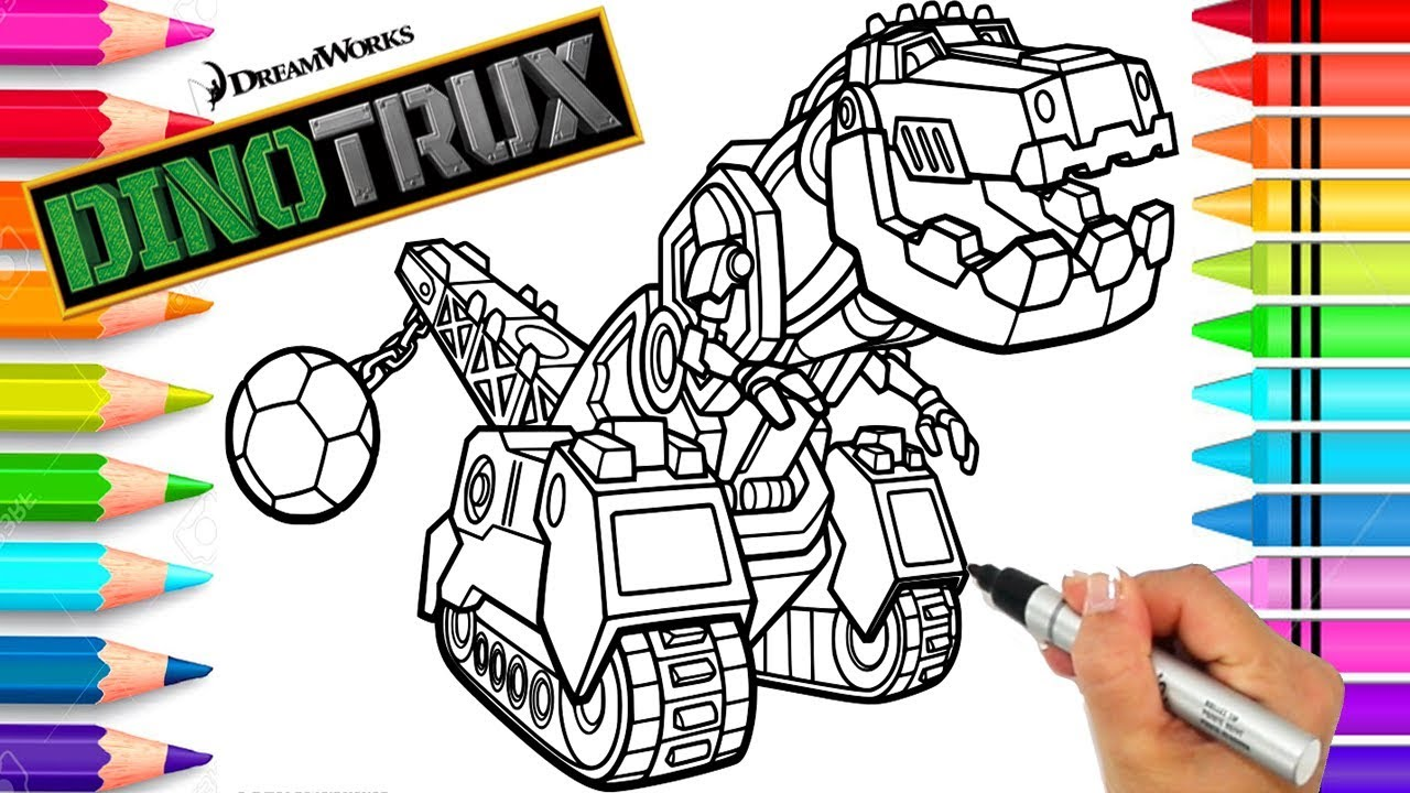 Ty Dinotrux Coloring Page | Dinotrux Coloring Book | Printable ...