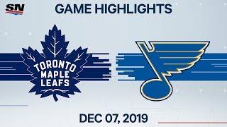 NHL Highlights   Maple Leafs vs Blues – Dec. 7, 2019