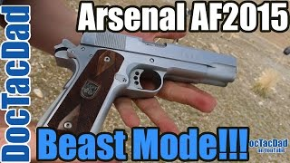 shooting the af2011 double barrel 1911 arsenal firearms