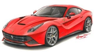Ferrari F12 Berlineta drawing by Adonis Alcici