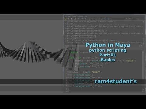 Python in Maya - python scripting -  Part:01:Basics