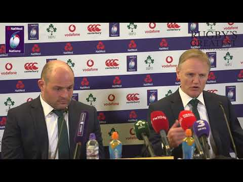 Rory Best and Joe Schmidt post-Wales | NatWest 6 Nations
