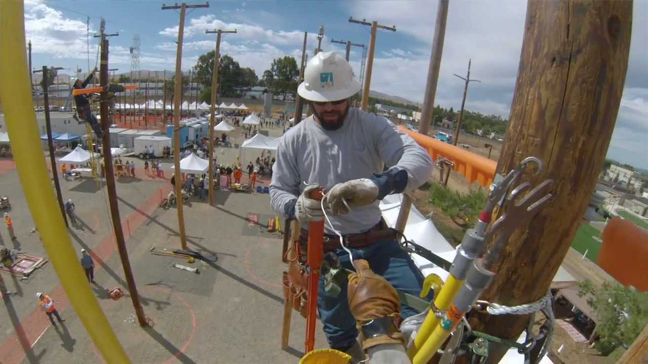Pg Amp E Lineman Show Off Their Unique Skills At Rodeo Event
