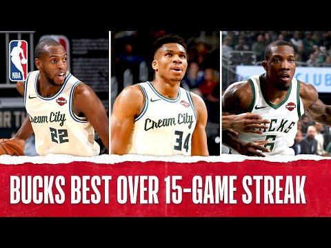 Best Plays From The Milwaukee Bucks' 15 Game Winning Streak   2019-20 NBA Season