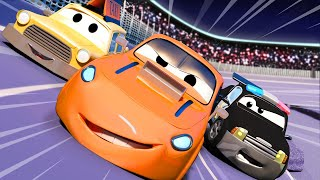 Авто Патруль -  Большая гонка - Автомобильный Город  🚓 🚒 детский мультфильм