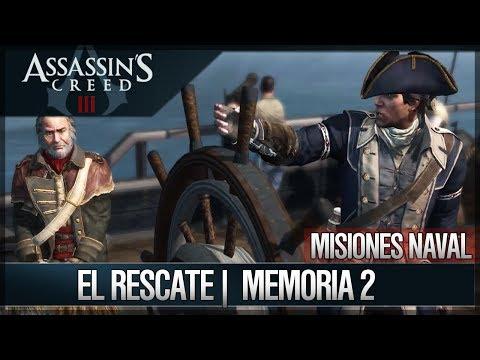 Assassin's Creed 3 - Walkthrough Español - Misiones navales - El rescate [2] [100%]