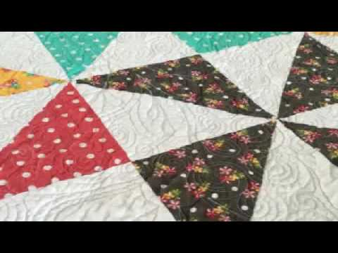Simple Machine Quilting For Beginners Pinwheel Quilt