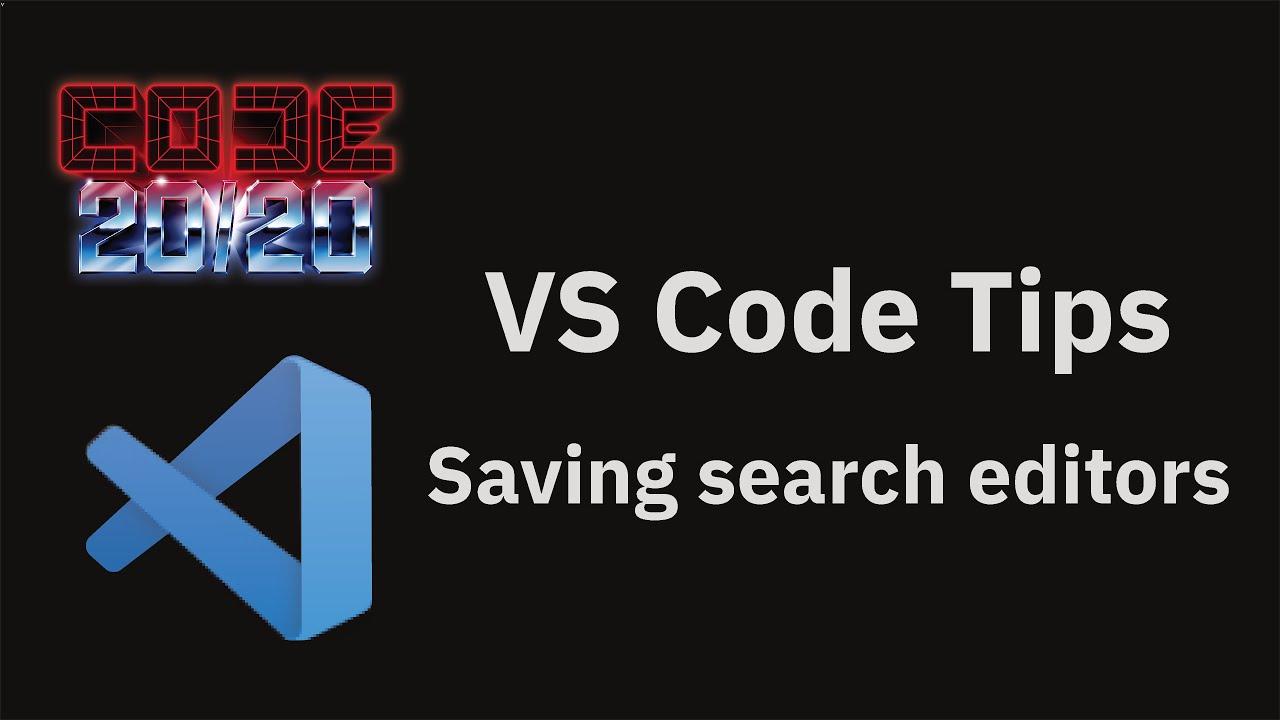 Saving search editors