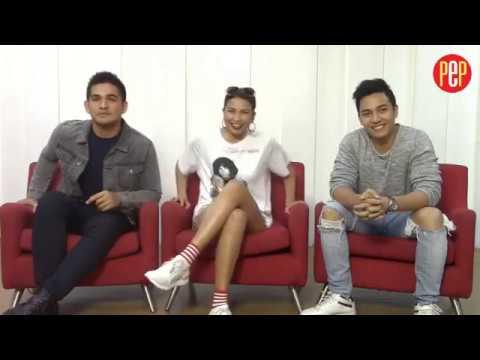 Glaiza de Castro, Jak Roberto, and Phytos Ramirez of Contessa doing PEP FB Live interview
