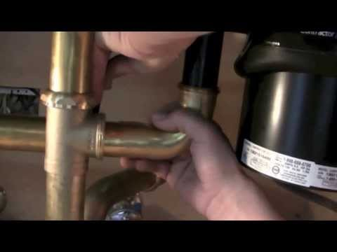 single sink garbage disposal hookup