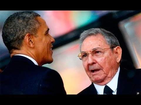 Obama Shakes Hand Of Raul Castro, Heads Explode