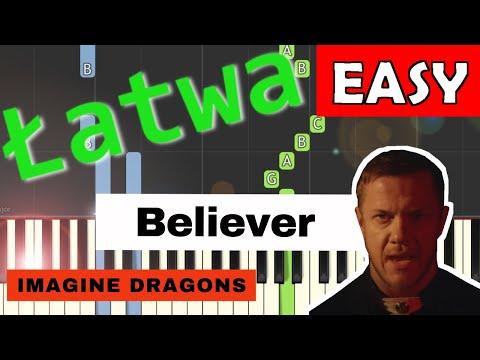 🎹 Believer (Imagine Dragons) - Piano Tutorial (łatwa wersja) 🎹