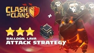 Clash Of Clans | TH9 ATTACK 3 STAR | AIR ATTACK STRATEGY | LAVALOON