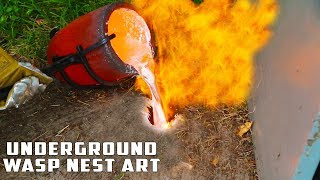 Download Casting GIANT Underground Wasp Nest with Molten Aluminum Mp3 and Videos