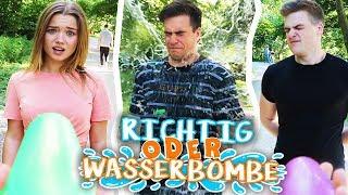 RICHTIG ODER WASSERBOMBE 💦 mit YOUTUBERN