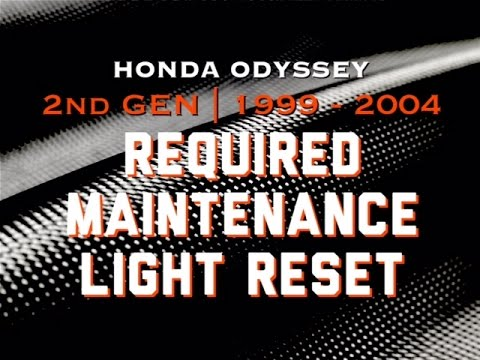 DIY:99-04 Honda Odyssey Reset Maintenance Required Light Flashing | Bundys Garage