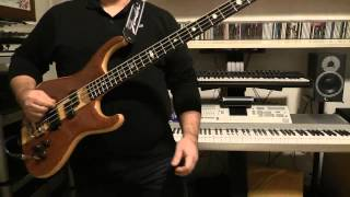 Bass Cover - Simple Minds - Stay Visible - with Alembic Elan bass
