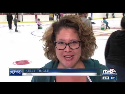 Kids try skating for first time at Indiana State Fairgrounds