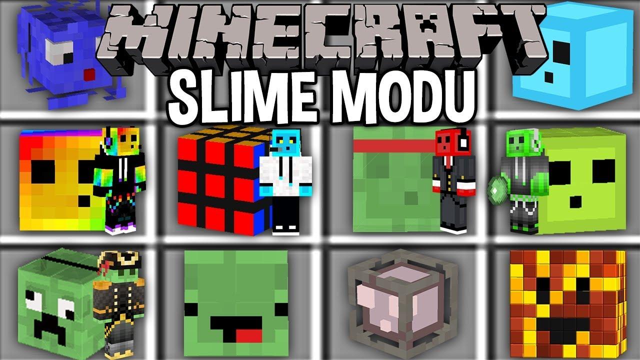 Minecraft Slime Modu Mavi Slime Yeşil Slime Youtube