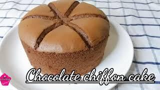 Hướng dẫn làm Bánh Bông Lan socola bông xốp - Chocolate Chiffon cake