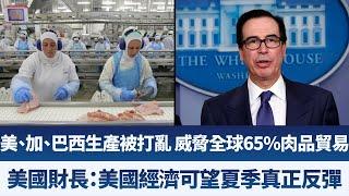 美、加、巴西生產被打亂 威脅全球65%肉品貿易|美國財長:美國經濟可望夏季真正反彈|產業勁報【2020年4月27日】|新唐人亞太電視