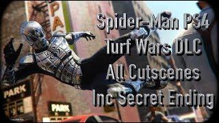 Spider-Man Ps4 Turf Wars DLC All Cutscenes Movie Inc SECRET ENDING