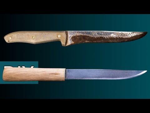 Как сделать Макири из старого кухонного ножа. Реставрация, заточка и травление. #Стройхак - Видео из ютуба
