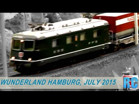 "BEST OF ""MINIATUR WUNDERLAND"" HAMBURG, GERMANY - JULY 2015"