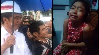 Tolonglah Pak Jokowi, gadis kecil ini menangis sesenggukan karena gagal salaman dengan idolanya