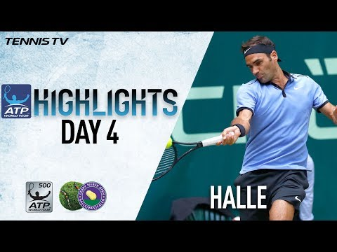 Highlights: Federer, Mayer Win Thursday At Halle 2017