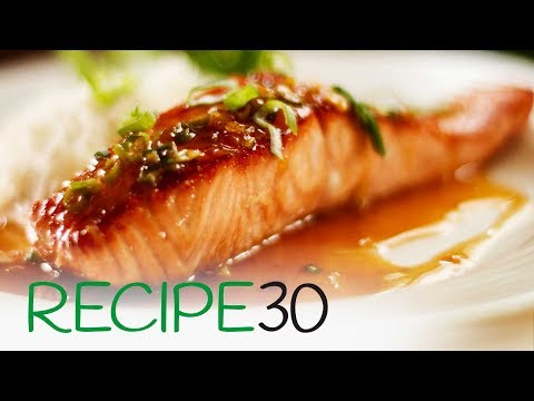 Quick And Easy Honey And Soy Glazed Salmon, Pan Seared