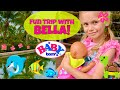 🐬Exciting Trip With Baby Born Bella! 🎁Unboxing New Baby Born Doll Carrier & Walk At The Resort!🌴