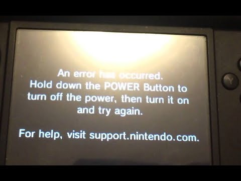 Nintendo 3DS How To Fix Error Has Occured hold down power button and restart