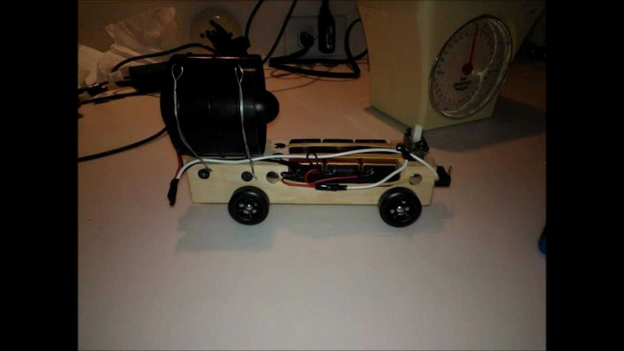 Compressed Air Car >> Pinewood Derby Ducted Fan vs. RC Car - YouTube