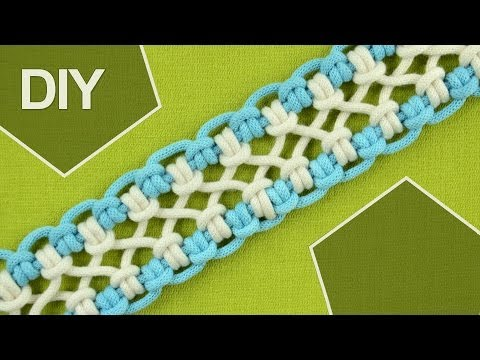 DIY / crossed sennit, chainlet - SIX strands