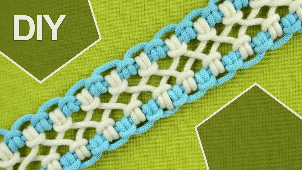 Diy crossed sennit chainlet six strands doovi - Macrame paso a paso ...