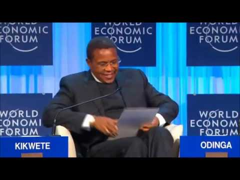 Mheshiniwa J.K.Kikwete akizungumza kwenye world economic forum 2012