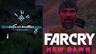 """Far Cry New Dawn """"Days Of Blunder"""" Side Mission HURK DRUBMAN Location Guide Walkthrough Quest"""