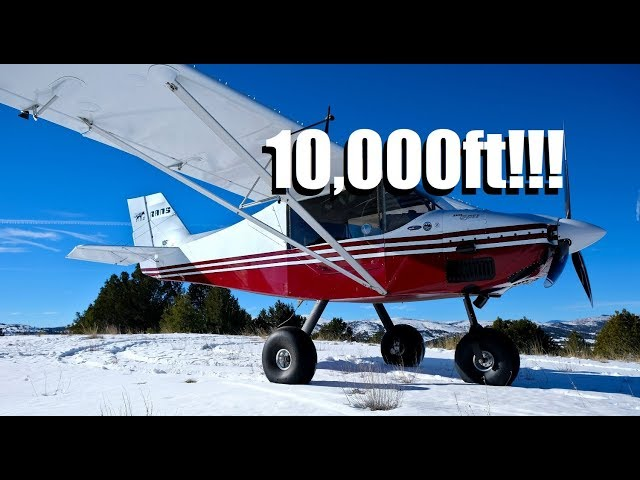 Landing in the Rocky Mountains in the snow @ 10,000ft - RANS S-6S zipper 912