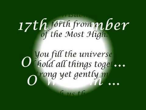 The 'O' Antiphons: 17th December
