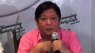 Bongbong: 'I'm thankful I'm a Marcos'