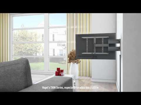 support tv mural slim motoris vogel 39 s thin rc 355 doovi. Black Bedroom Furniture Sets. Home Design Ideas