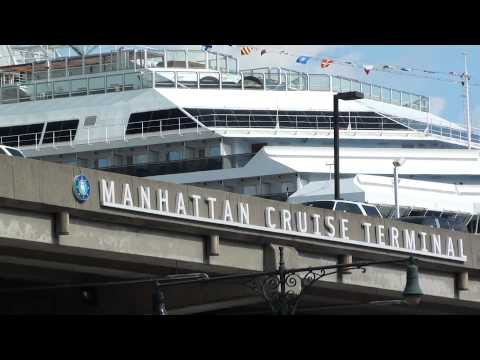 Manhattan Cruise Terminal Video Footage- New York City, USA