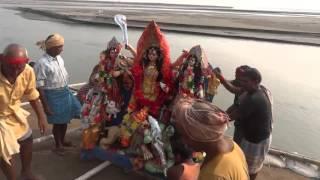 Durga Puja Visarjan at the mighty Brahmaputra River at Tezpur Assam