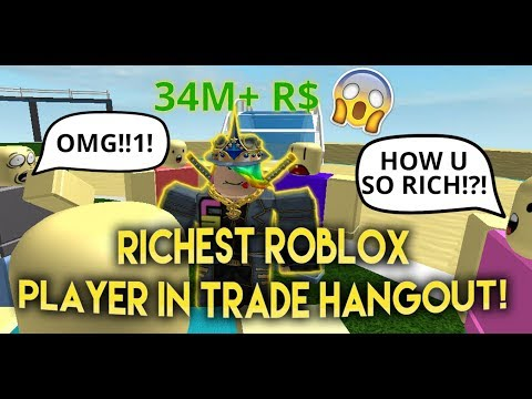 (ROBLOX TROLLING!) RICHEST Player In Trade Hangout! - Linkmo