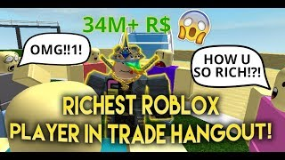 (ROBLOX TROLLING!) RICHEST Player In Trade Hangout! - Linkmon99 ROBLOX