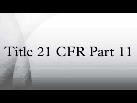 Title 21 CFR Part 11