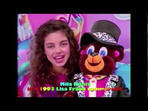 Мила Кунис в рекламе игрушек Lisa Frank (1993)
